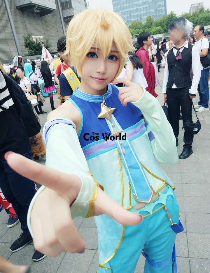 2017 Snow Vocaloid Kagamine Rin Len Tops Pants Uniform Outfit Anime Cosplay Costumes