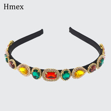 Luxury Baroque Crystal Headband for women catwalk Hair Band Accessories multicolor Headdress Headpiece Jewelry
