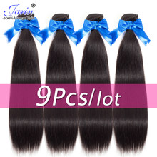 "JARIN 9 Pieces/lot Peruvian Straight Human Hair Extension 100% Remy Hair Bundles Deal 8-26"" Long Hair Weave Can Mix Length(China)"