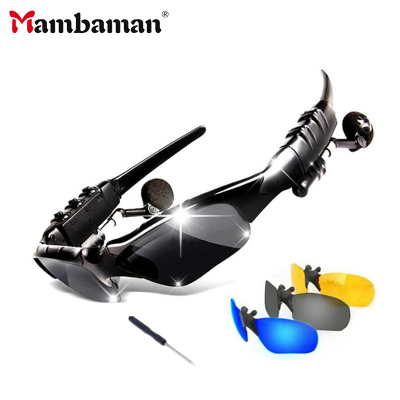Mambaman Cycling Sunglasses Riding Bluetooth Earphone Smart Glasses Outdoor Sport Wireless Bike Sun Glasses Headphone With Mic