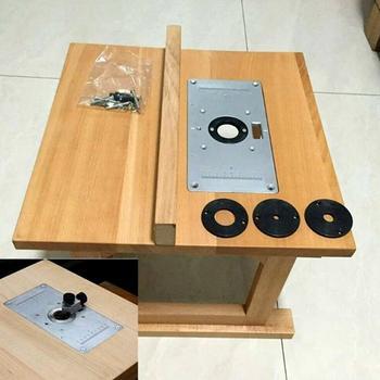 Wielofunkcyjny aluminiowy Router płytka stołowa ławki do obróbki drewna frezarka do drewna modele trymer grawerka tanie i dobre opinie Woodworking Benches