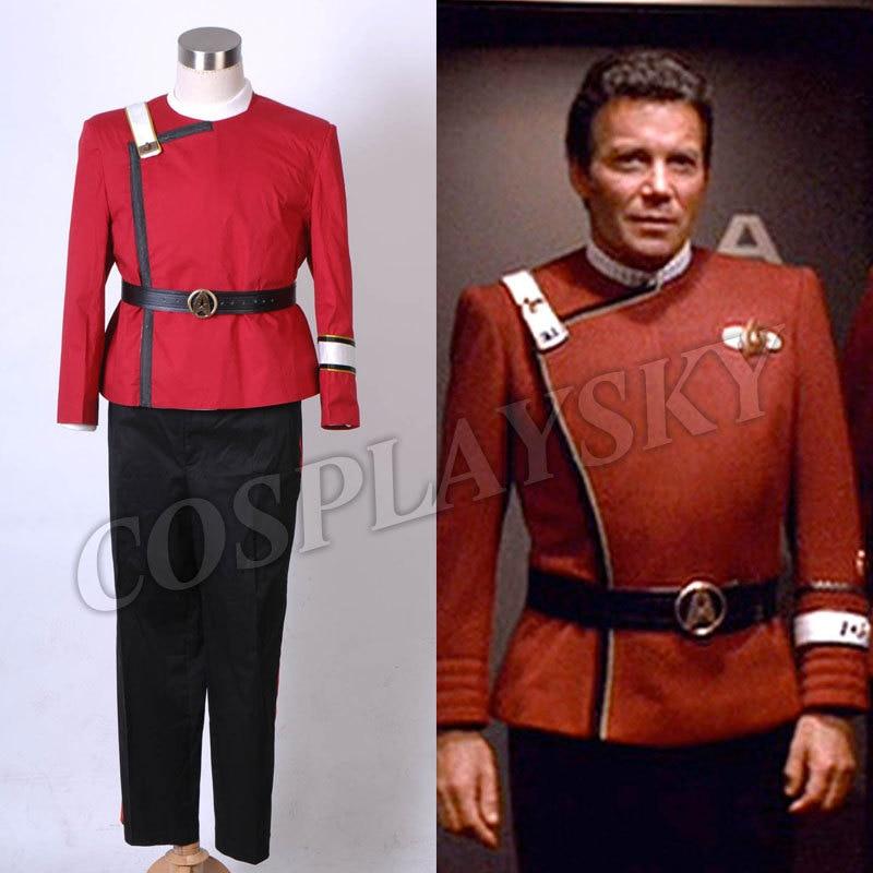 <font><b>Star</b></font> <font><b>Trek</b></font> II-VI Wrath <font><b>of</b></font> <font><b>Khan</b></font> starfleet Uniform Full Set Cosplay Costume
