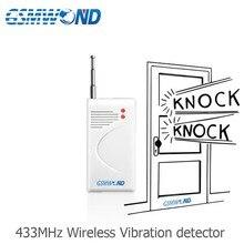 433Mhz Wireless Vibration Detector Suitable Be Installed In Door Window etc Glass beak Detector For font