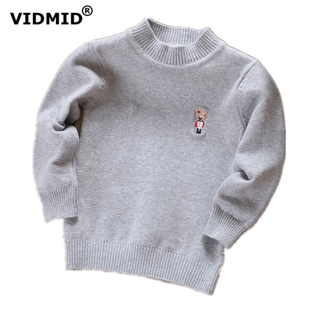 1-10Y Children Sweaters Boys Knnited sweater Girls Warm Clothing Kids outerwear baby basic all match Turtleneck pullover Winter
