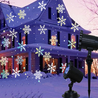 White snowflake projector christmas lights outdoor Garden path Lamp Waterproof Landscape Light Outdoor Home Decorative Lamp
