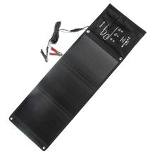 HOT 21W Solar Panel Foldable Solar Charger For Mobile Pohone 12V Battery Car Charger Dual Usb5V