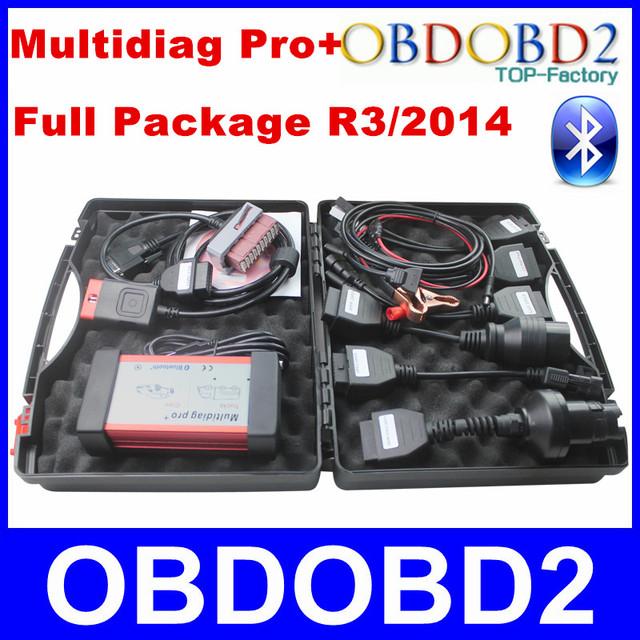 Multidiag Pro 2014 R2/R3 Activación Gratis Obd2 Multidiag Pro Trabajo Coche/Camión Completo Paquete Verde PCB Herramienta de Diagnóstico a bordo