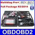 Multidiag Pro 2014 R2/R3 Ativar Livre OBD2 Scanner Multidiag Pro Trabalho Carro/Caminhão Pacote Completo PCB Verde Ferramenta de Diagnóstico a bordo