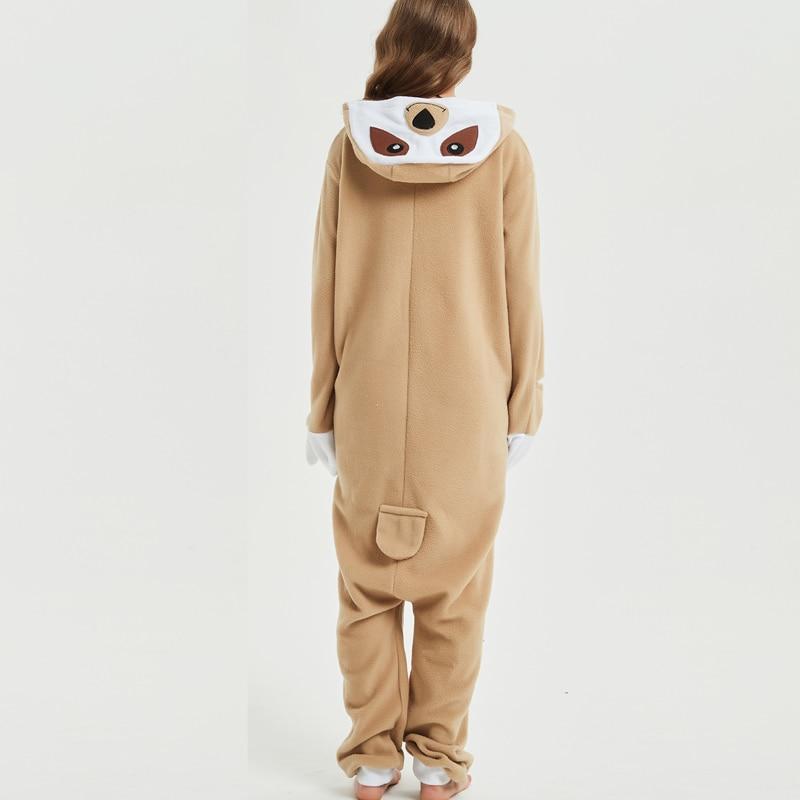 Loose Cartoon Character Sloth Onesies Adult Pajamas Polar Fleece Kigurumi For Halloween Onepiece Winter Jumpsuit Pijama Cosplay (3)