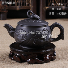 Günstigste zisha teekanne classtic kapazität teekanne zisha pot handgemachte kung fu yi xing tee-set ceramics 150-170 ml schwarz teekanne