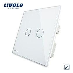 Livolo умный Беспроводной переключатель, AC220-250V, VL-C302R-61/62/63, Стекло Панель, беспроводной дистанционного Главная Свет Великобритания Переключат...