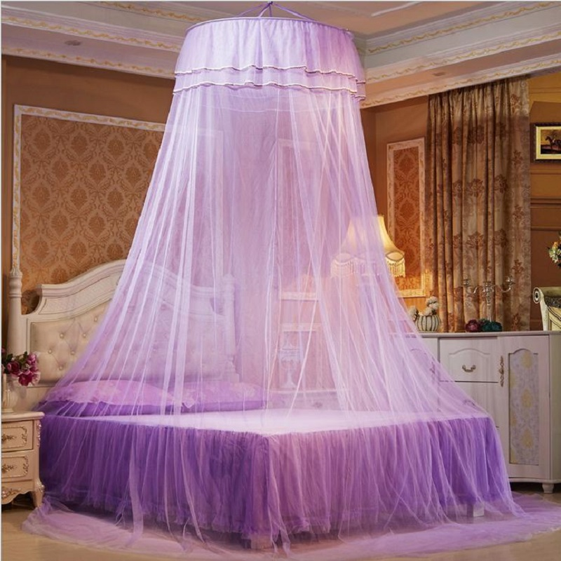 European Hung Dome Mosquito Net For Girl Double Canopy Bed Curtains Elegant Lace Princess Circular Nets Summer Bedroom HomeDecor-in Mosquito Net from Home ... & European Hung Dome Mosquito Net For Girl Double Canopy Bed ...