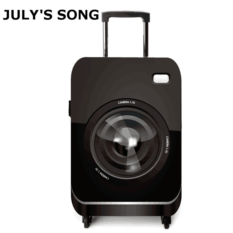 JULY'S SONG Camera Design Luggage Protective Covers Apply To 18~32Inch Suitcase Elastic Luggage Case Cover Travel Accessories