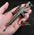 1/6 The SG551 sniper rifle with three type plastic clip model  Assembly model