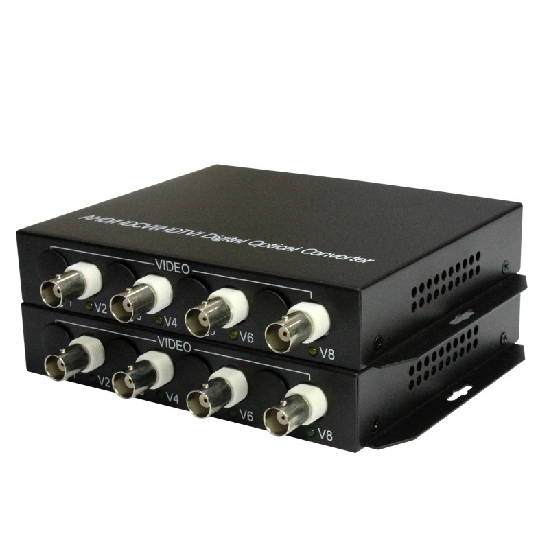 1080P HD CVI AHD TVI 4 Channel Video Fiber Optical Media Converters with RS485 Data For 1080p 960p 720p AHD CVI TVI HD CCTV