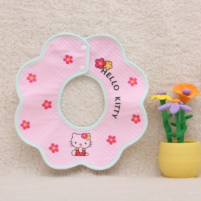 Cute Baby Girls Round Bibs 20 Styles Lovely Cartoon Fashion Saliva Towels Infant Kids Smile Burp Cloth Newborn Flower Bandana