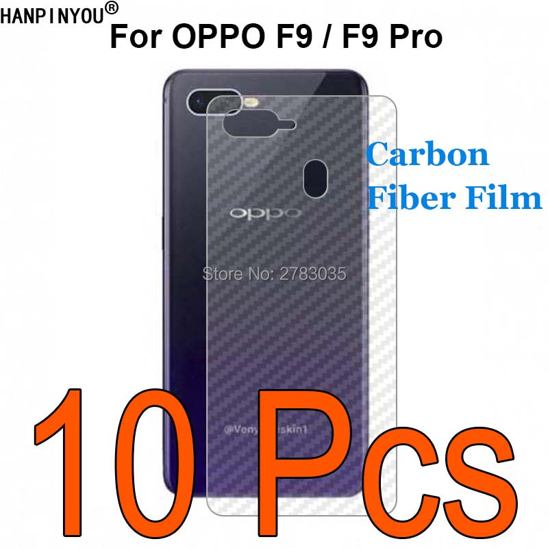 "10 Pcs/lot For Oppo F9 / F9 Pro 6.3"" Durable 3d Anti-fingerprint Transparent Carbon Fiber Back Film Screen Protector"