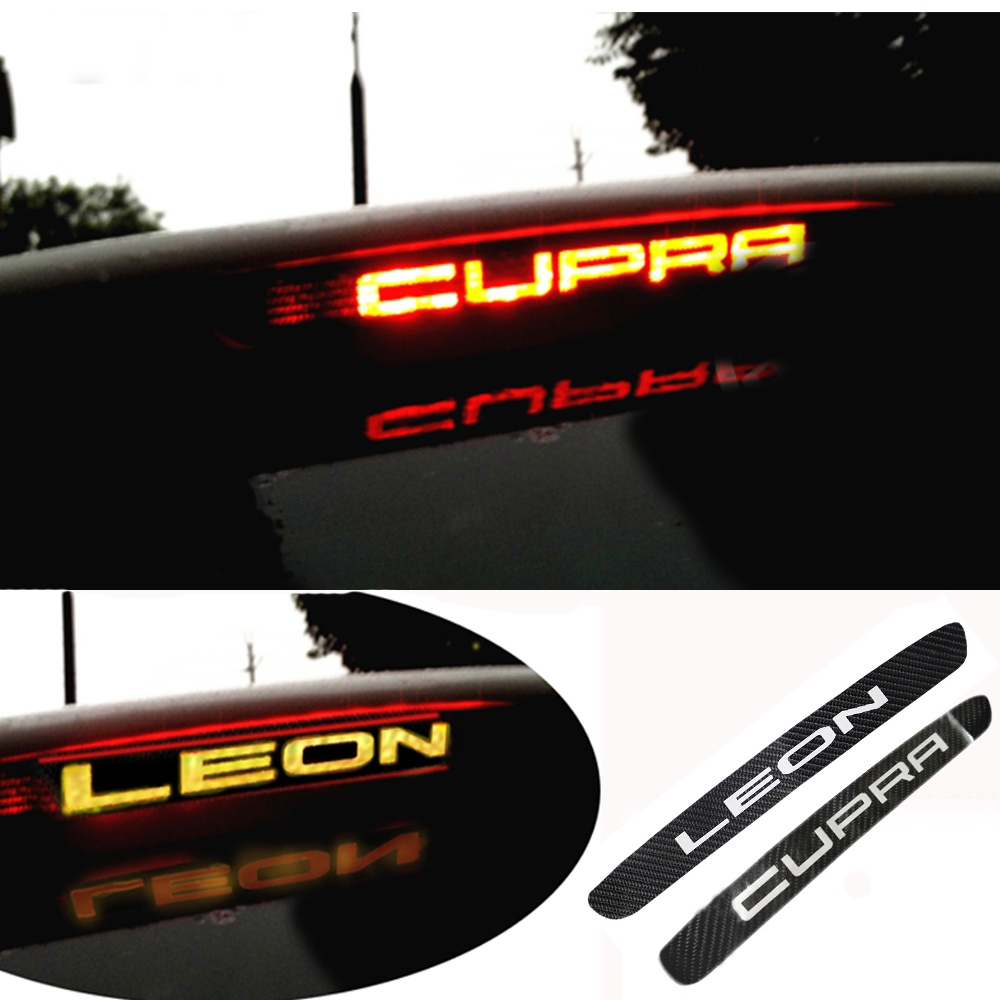 For SEAT LEON Cupra Carbon Fiber Stickers And Decals High Mounted Stop Brake Lamp Light Car Styling Accessories carbon fiber stickers and decals high mounted stop brake lamp light car styling for suzuki swift additional brake light sticker