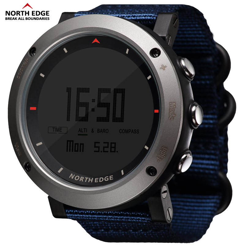 Best buy ) }}NORTH EDGE Men's sport Digital watch Hours Running Swimming sports watches Altimeter Barometer