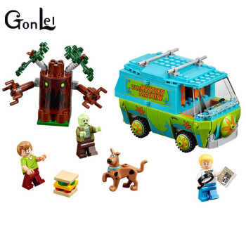 10430 10428 With Legoinglys Scooby Doo The Mystery Machine Building Block Toys Set Bricks educational For Children 1