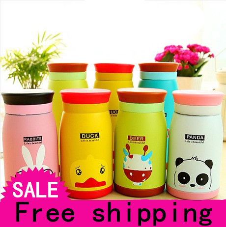 Cute cartoon creative stainless steel pot bellied insulation Cup, thermos cup of MS