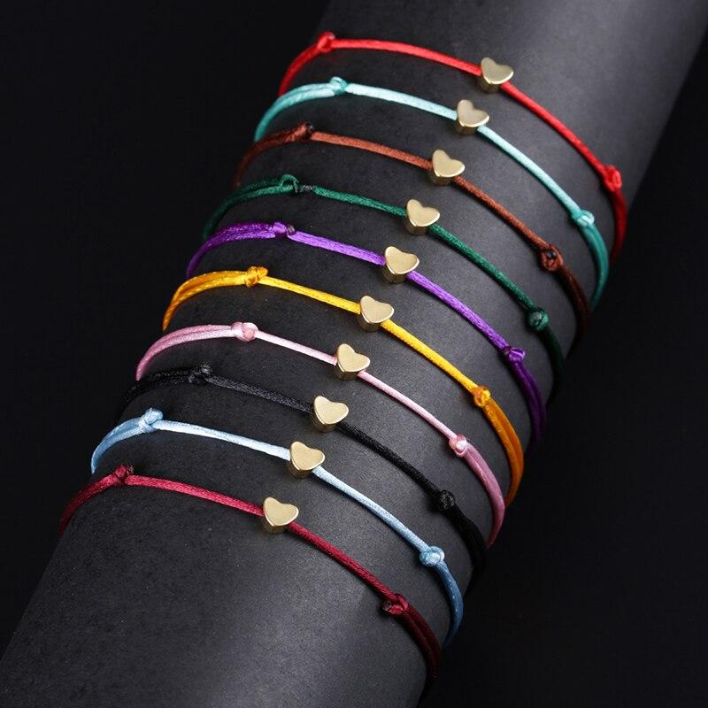 KEJIALAI Simple Cross String Bracelet Adjustable Braiding Lucky Macrame Rope Bracelets For Women Men Children Handmade Jewelry