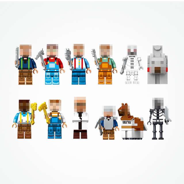 US $73 27 |Legoing Minecraft Dream Village Series 4 in 1 Set City Wall  Watch Tower Shop 1221pcs Blocks Toys For Children Minecraft Legoings-in  Blocks