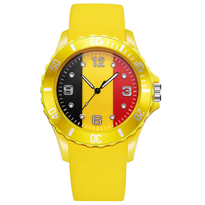 2018 World Cup Personality Men Sprots Casual Quartz-watch Soccer Country 14 Flag Elasticity Bracelets Wristwatches Clock Hour world cup in south africa world cup model european soccer cup trophy custom football fans articles
