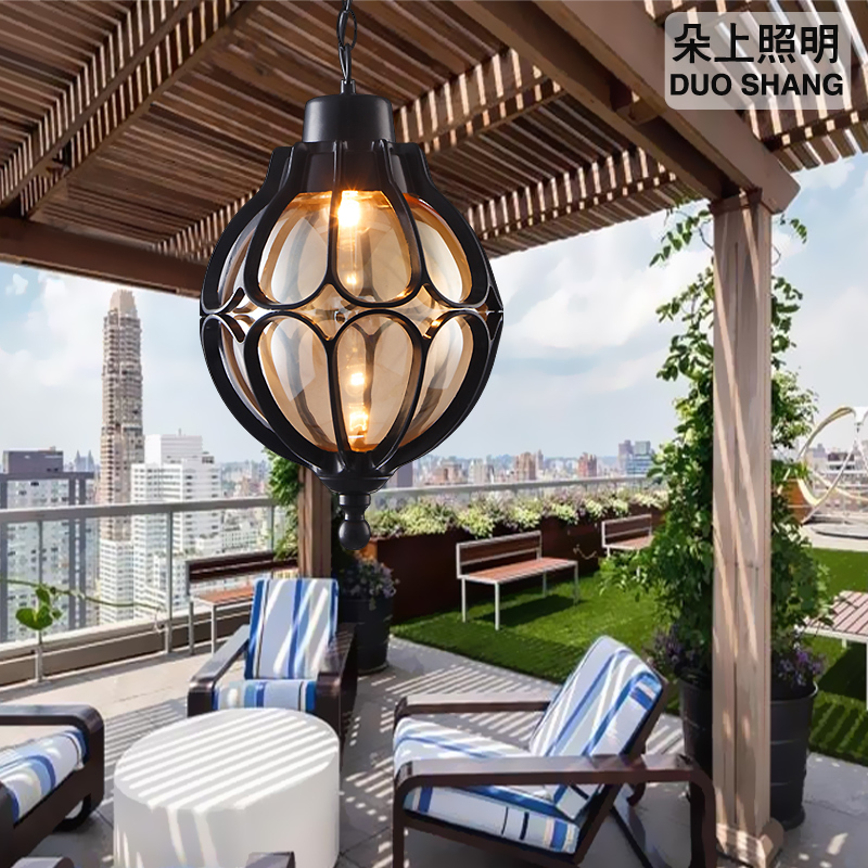 Outdoor Light Vintage Pendant Lamps Simple Balcony Corridor Courtyard Villa Pavilion Grape Waterproof Pendant Lights