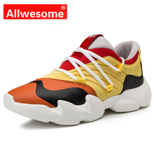 Allwesome Harajuku Mens High Fashion Casual Sneakers Ultra Boost Breathable Chunky Shoes Mocassin Superstar Kanye West