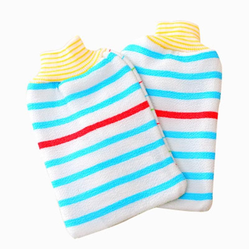 1Pcs Shower Body Massage Sponge Wash Skin Spa Foam Bath Rubbing Towel Glove Scrubber Exfoliating Back Scrub Skid Resistance tool