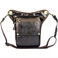 Men's Genuine Leather  Waist Thigh Drop Leg Bag Travel Motorcycle Riding Messenger Shoulder Fanny Pack