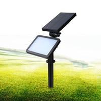 48LED Solar Outdoor Lawn Light Highlight Solar Induction Wall Lamp Landscape Garden Inserted Ground Spotlight Solar Lamp