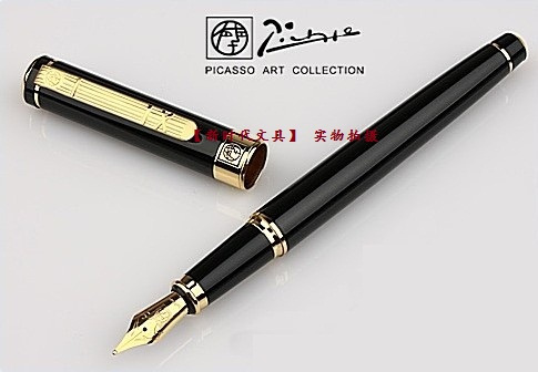 Picasso fountain pen ps-902 pure clip iridium fountain pen picasso fountain pen FREE shipping picasso urban fountain pen white pens silver clip picasso pen school supplies stationery