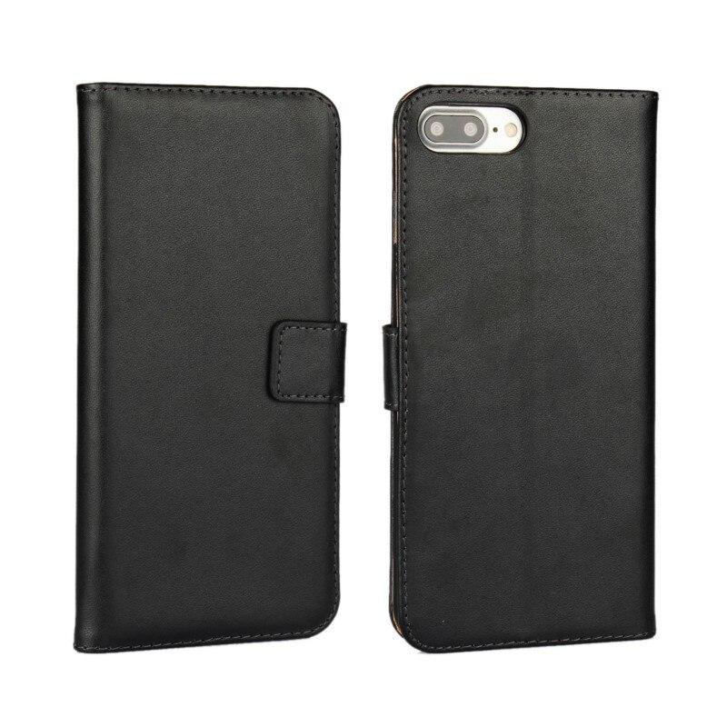 Dompet kulit asli, Kasus Flip Cover untuk iPhone 7/7 Plus / 6 s Plus - Aksesori dan suku cadang ponsel - Foto 1