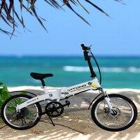 20 дюймов Электрический sc усилителем складной велосипед открытый двойной отдыха Электрический велосипед магазин при фабрике