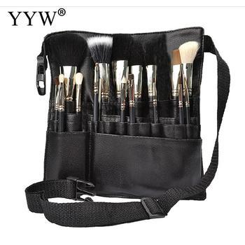 Professional Artist Makeup Cosmetic Brush Apron PU Leather Makeup Bag Waist for Cosmetic Designer Tool Make Up Brush Pocket 9pcs professional makeup make up cosmetic brush set kit tool with leather bag