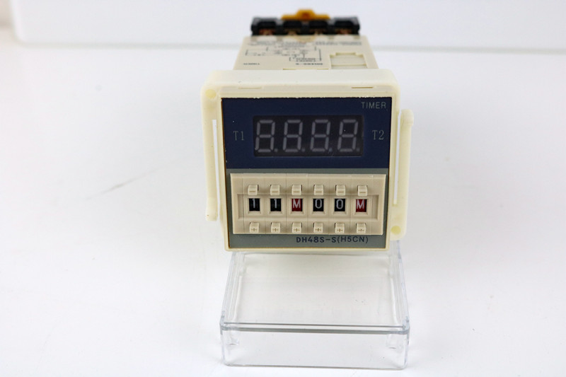 380V Multifunction Digital Timer Relay On Delay 8 Pins SPDT DH48S-S Repeat Cycle 0.1S-99H ce dh48s s digital timer time delay relay 220v dc 0 1s 99h 8 pins with base socket