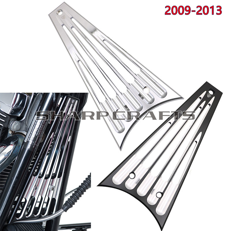 CNC Radiator Grill Cover Protector For Harley Touring Road Glide Street Glide Electra Glide Road King