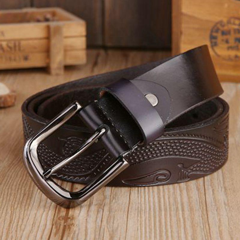 2018 luxury belt coffee designer belts men high quality waist strap pin buckle black cowboys size 125 cm jeans riem