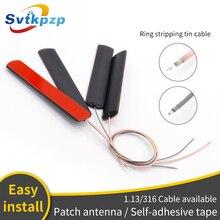 5dBi Patch GSM Antennes Universele 170 mhz/315 mhz/433 mhz/470 mhz 2.4G Booster Antennes met RG316 Verzilverd Kabel