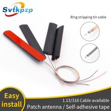 5dBi parche antenas GSM Universal 170 mhz/315 mhz/433 mhz/470 mhz de 2,4G de antenas con RG316 chapados en plata Cable