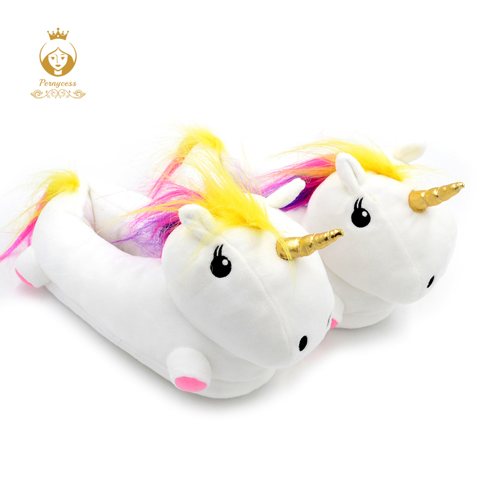 Women's Unicorn Light Up Plush Footwarmer Slipper, Glow In The Dark Led Unicorn Plush Toy, Funny Toys glow race track bend flex glow in the dark assembly toy 112 160 256 300pcs slot race track 1pc led car puzzle educational toys