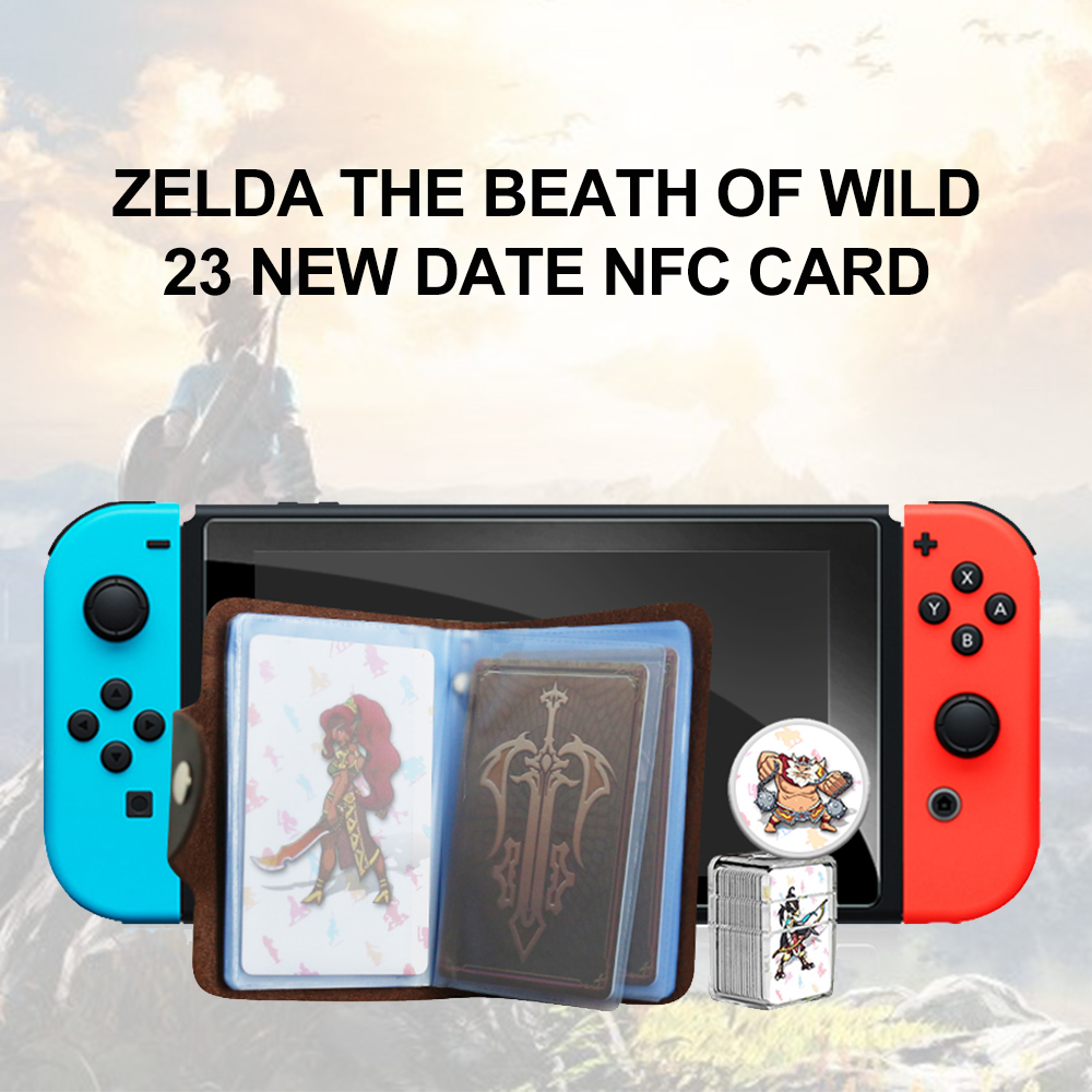 Compatible Zelda 23 <font><b>NFC</b></font> Round <font><b>Card</b></font> 20 Heart Wolf The Games <font><b>card</b></font> of <font><b>amiibo</b></font> the Legend of Breath of the wild NS <font><b>Switch</b></font> image