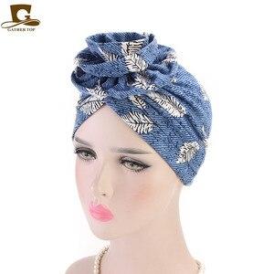 Image 3 - Nova moda elegante 3d flor turbante mulheres câncer quimio gorros bonés muçulmano turbante festa hijab headwear acessórios para o cabelo