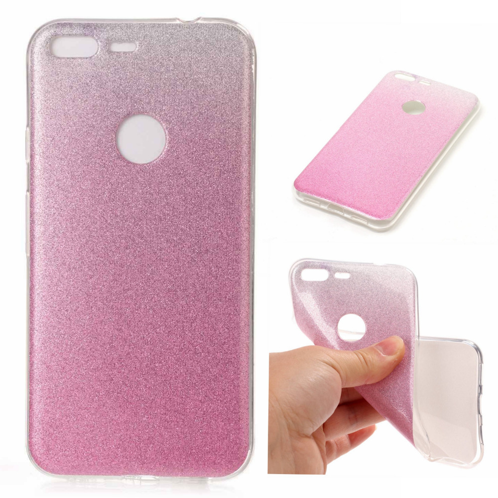 Bling Color Gradient Case For Coque Google PIXEL Google HTC PIXEL XL Cases TPU Silicone Funda Back Phone Cover Capinha