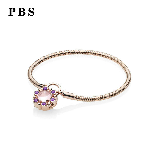 PBS 100%925 Sterling Silver Original Copy High-quality 1:1 Exquisite Bracelet Logo Plating Rose Gold Free ShippingPBS 100%925 Sterling Silver Original Copy High-quality 1:1 Exquisite Bracelet Logo Plating Rose Gold Free Shipping
