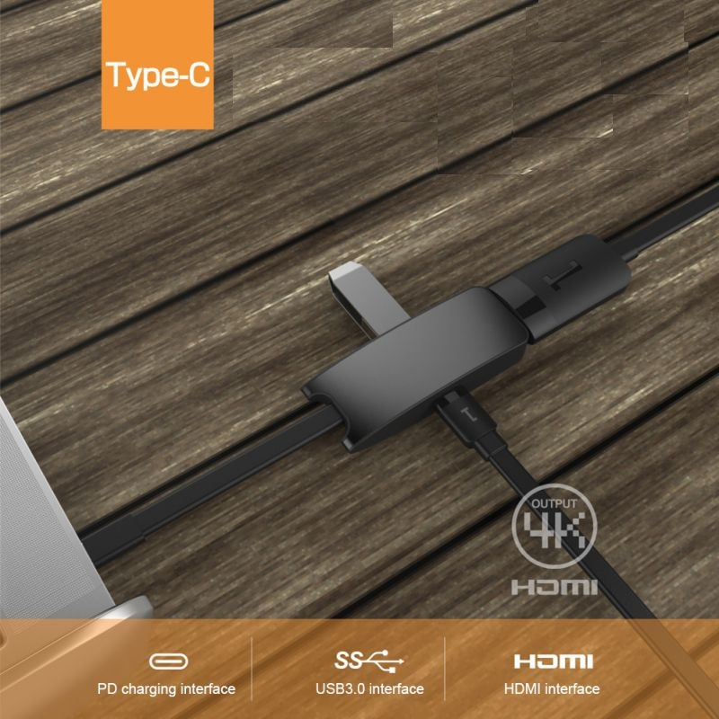 Hub USB 3,0 tipo C Universal con puerto de carga PD, adaptador convertidor 4 K HD USB-C a HDMI, para Huawei, para Xiaomi, para MacBook