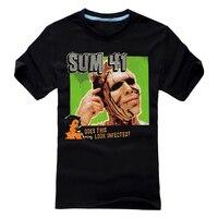 Бесплатная доставка Sum 41 Кричащие черепа Проблемные печати черный 100% хлопок футболка