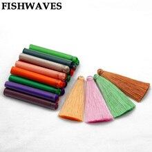FISHWAVES 5 шт. 70 мм красочные шелковые кисточки Diy брелок ручной работы серьги большие аксессуары из кисточки с бахромой модные украшения новые